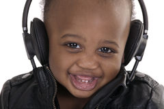 talerzowego dżokeja uśmiechnięci potomstwa zdjęcie royalty free