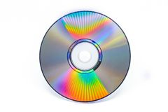 Talerzowy DVD cd na białym tle Zdjęcia Royalty Free