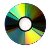 Talerzowy DVD cd na białym tle Obraz Stock