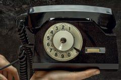 Talerzowy telefon obrazy royalty free