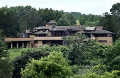 Taliesin. This is a Summer picture of the historic Taliesin on the Taliesin Estate located in Spring Green, Wisconsin in Sauk County. This two-story house and stock photography