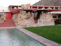 Taliesin West, Scottsdale, Arizona. Taliesin West was the winter home and architecture school of architect Frank Lloyd Wright Royalty Free Stock Photography