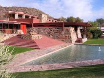 Taliesin West, Scottsdale, Arizona. Taliesin West was the winter home and architecture school of architect Frank Lloyd Wright Royalty Free Stock Images