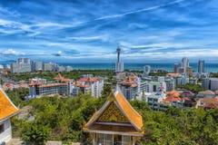 Taliland, Pattaya, άποψη 27.06.2017 της πόλης από το observat Στοκ Φωτογραφίες