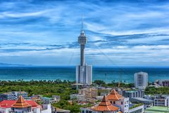 Taliland, Pattaya, άποψη 27.06.2017 της πόλης από το observat Στοκ φωτογραφία με δικαίωμα ελεύθερης χρήσης