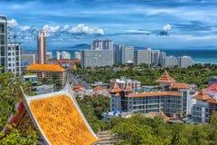 Taliland, Pattaya, άποψη 27.06.2017 της πόλης από το observat Στοκ Εικόνα