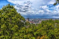 Taliland, Pattaya, vista 27,06,2017 della città dal observat Fotografia Stock Libera da Diritti