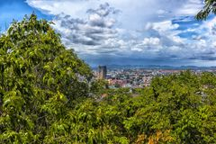 Taliland, Pattaya, vue 27,06,2017 de la ville de l'observat Photo libre de droits