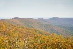 Talimena byway sceniczny bieg wzdłuż grzebienia góra obraz stock