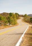 Talimena byway sceniczny cewienie na grzebieniu góra zdjęcie royalty free