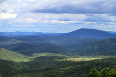 Talimena Drive, cloudy day in the Ouachita mountains. Stock Image
