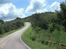 Talimena Jedzie, Ouachita góry, wygina się drogi zdjęcie royalty free