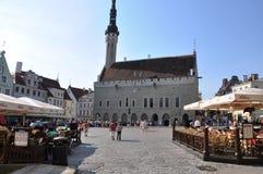 Talinn. Center of Talinn, Estonia. Sunny day Royalty Free Stock Photos