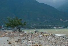 Talise, opinião do litoral de Palu, Indonésia após o tsunami Palu, Indonésia o 28 de setembro de 2018 fotos de stock