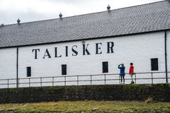 Talisker spritfabrikhögkvarter, Skottland, UK royaltyfri foto