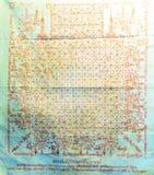 Talisman mit altem Charakter auf Stoff im Markt Stockbilder
