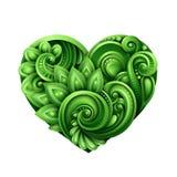 Talisman vert décoratif de coeur illustration libre de droits