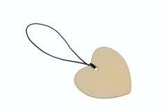 talismano di legno di forma del cuore della rappresentazione 3D Fotografie Stock Libere da Diritti