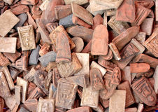 Talismans amulets old thai Stock Photos