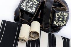 Talit e tfilin - objetos judaicos da oração Fotos de Stock Royalty Free