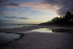 Taljo海滩, Panglao,保和省,日出的菲律宾看法  免版税库存图片