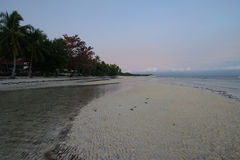 Taljo海滩, Panglao,保和省,日出的菲律宾看法  库存图片