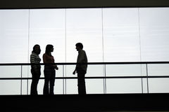 Talk. People talking in a building Royalty Free Stock Photography