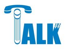 Talk. Text talk on white background Stock Photo