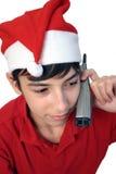 Talk. Christmas teen royalty free stock photography