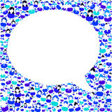 Talk answer question bubble speech Royalty Free Stock Photography