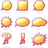 Talk Balloon. Colo and nine shape Talk Balloon icon Royalty Free Stock Images