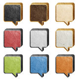 Talk box 3D recycled paper craft Royalty Free Stock Photography
