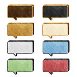 Talk box 3D recycled paper craft Stock Image