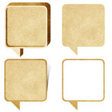Talk box 3D recycled paper craft Royalty Free Stock Photos