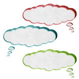 Talk box 3D recycled paper craft Royalty Free Stock Images