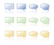 Talk bubble. Royalty Free Stock Images