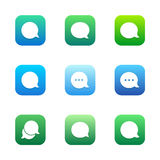 Talk bubble comment and message icons set Stock Photography