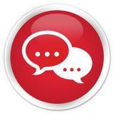 Talk bubble icon premium red round button Royalty Free Stock Photo