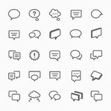 Talk bubble icons illustration. Stock Photo