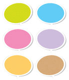 Talk Bubble Labels. Colorful pattern talk bubble labels Stock Photography