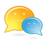 Talk bubble / speech bubble Stock Images