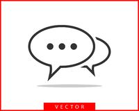Talk bubble speech icon. Blank empty bubbles vector design elements. Chat on line symbol template. Dialogue balloon sticker. Silhouette royalty free illustration