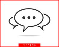 Talk bubble speech icon. Blank empty bubbles vector design elements. Chat on line symbol template. Dialogue balloon sticker. Silhouette stock illustration
