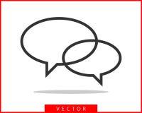 Talk bubble speech icon. Blank empty bubbles vector design elements. Chat on line symbol template. Dialogue balloon sticker. Silhouette vector illustration