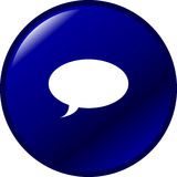 Talk bubble vector button Royalty Free Stock Photography