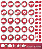 Talk bubble. Vector illustration of speech bubble icon set Royalty Free Stock Images