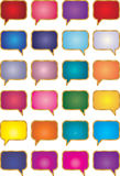 Talk Bubbles. This is a  collection of talk bubbles. They can be used for different purposes Royalty Free Stock Photography