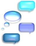 Talk Bubbles. Multiple style and color Talk Bubbles Stock Photos