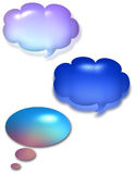 Talk Bubbles. Multi colored glossy Talk Bubbles Royalty Free Stock Photo