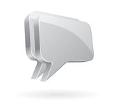 Talk bubbles as chat icons. Illustration of silver chromed talk bubbles used as icons or buttons for chat and forums Stock Photo